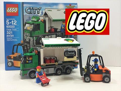 lego city cargo truck set 60020 fun toys speed build youtube