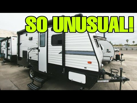 Most UNUSUAL Floorplan For A Compact Travel Trailer RV!17RBSS