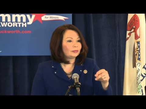 U.S. Rep. Tammy Duckworth announces U.S. Senate candidacy in Springfield, IL