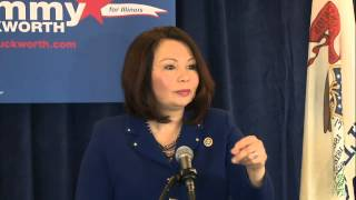 U.S. Rep. Tammy Duckworth announces U.S. Senate candidacy in Springfield, IL