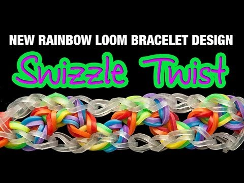 NEW Rainbow Loom Bracelet - THE SWIZZLE TWIST
