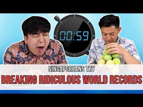Singaporeans Try: Breaking Ridiculous World Records (feat. Joie Tan & LEW)