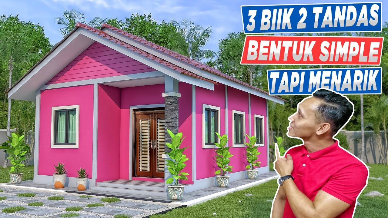 Design Rumah Banglo Simple 3 Bilik 2 Bilik Air 20 X31 Feet Youtube
