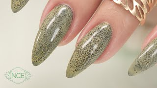 Snake Skin Effect - Bubble Nails