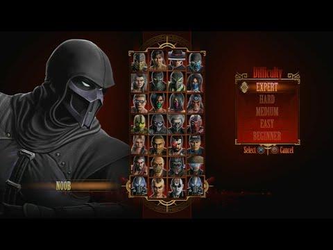 Mortal Kombat 9 - Expert Arcade Ladder (Noob Saibot/3 Rounds/No Losses)
