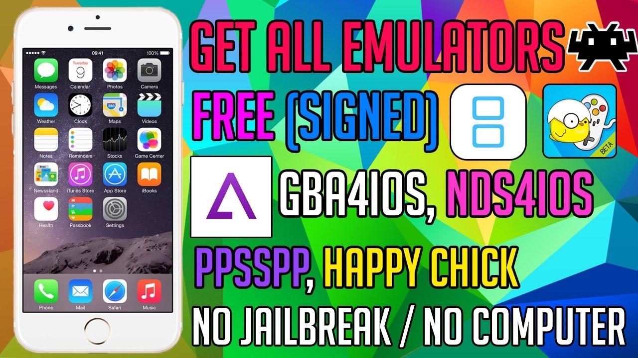 Get GBA4iOS, Happy Chick, PSP, RetroArch, NewGamePad & iNDS on iOS 10 & 9  NO JAILBREAK / NO COMPUTER