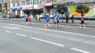 Race walk . Ivano Frankivsk. Ukraine