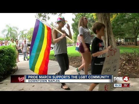 Pride March in Naples for the LGBTQ Community