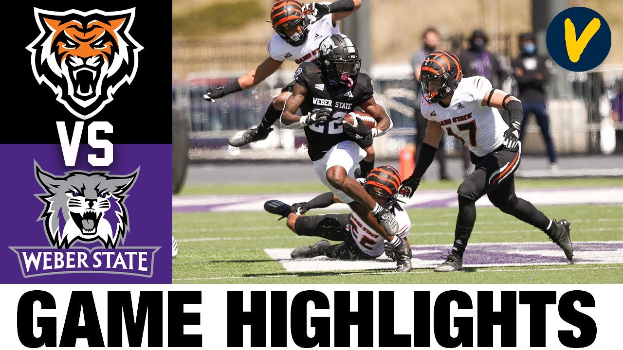 Idaho State vs #3 Weber State Highlights | FCS 2021 Spring College Football Highlights