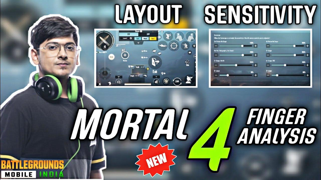 Mortal's New BGMI 4 Finger Claw Analysis🔥| Mortal's Control Code + Sensitivity | BGMI🇮🇳