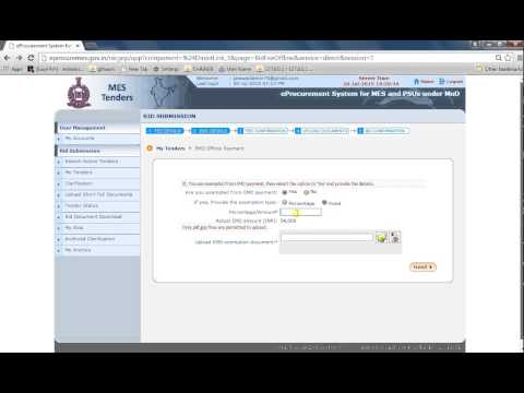E TENDER #13 HOW TO UPLOADED TENDER IN EPROCUREMENT