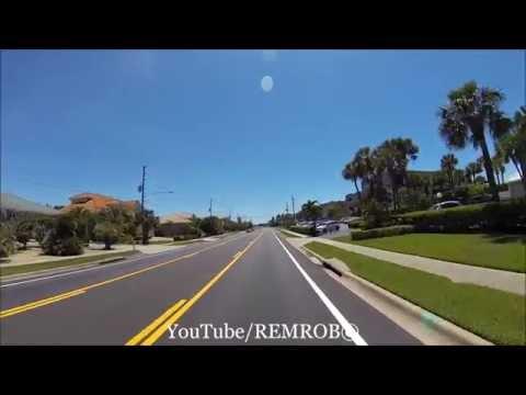 Driving South On Belleair Beach / Shores, Florida