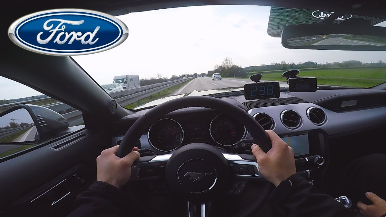 2017 ford mustang ecoboost top speed on german autobahn✓