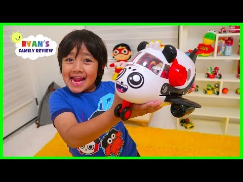 Surprise Ryan with Combo Panda Airplane toys!!!