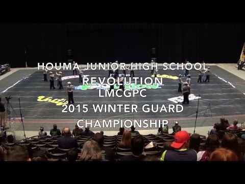Houma Junior High School Winter Guard 2015 LMCGPC Championship