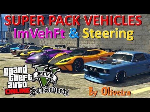 GTA V SUPER PACK VEHICLES V2 COM ImVehFt & Steering By Oliveira 2019 GTA SAN ANDREAS