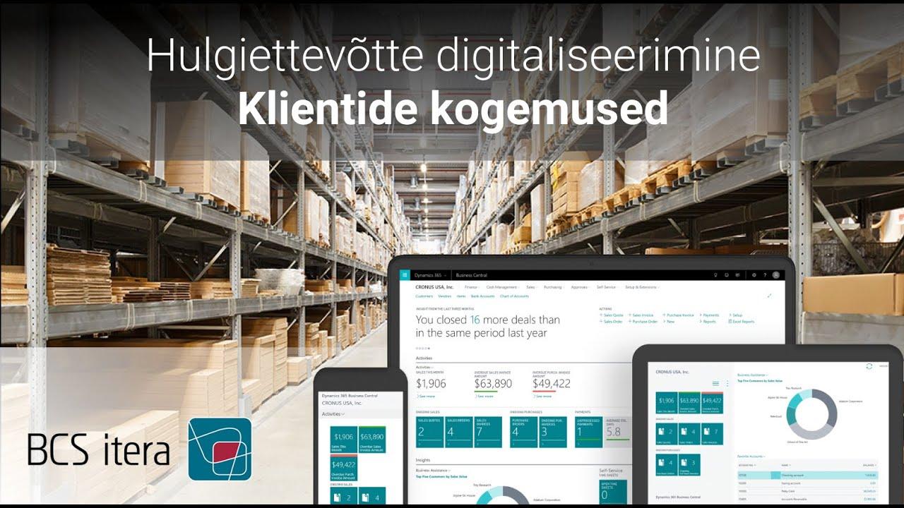 Hulgiettevõtte lahendused ja digitaliseerimine – klientide kogemused