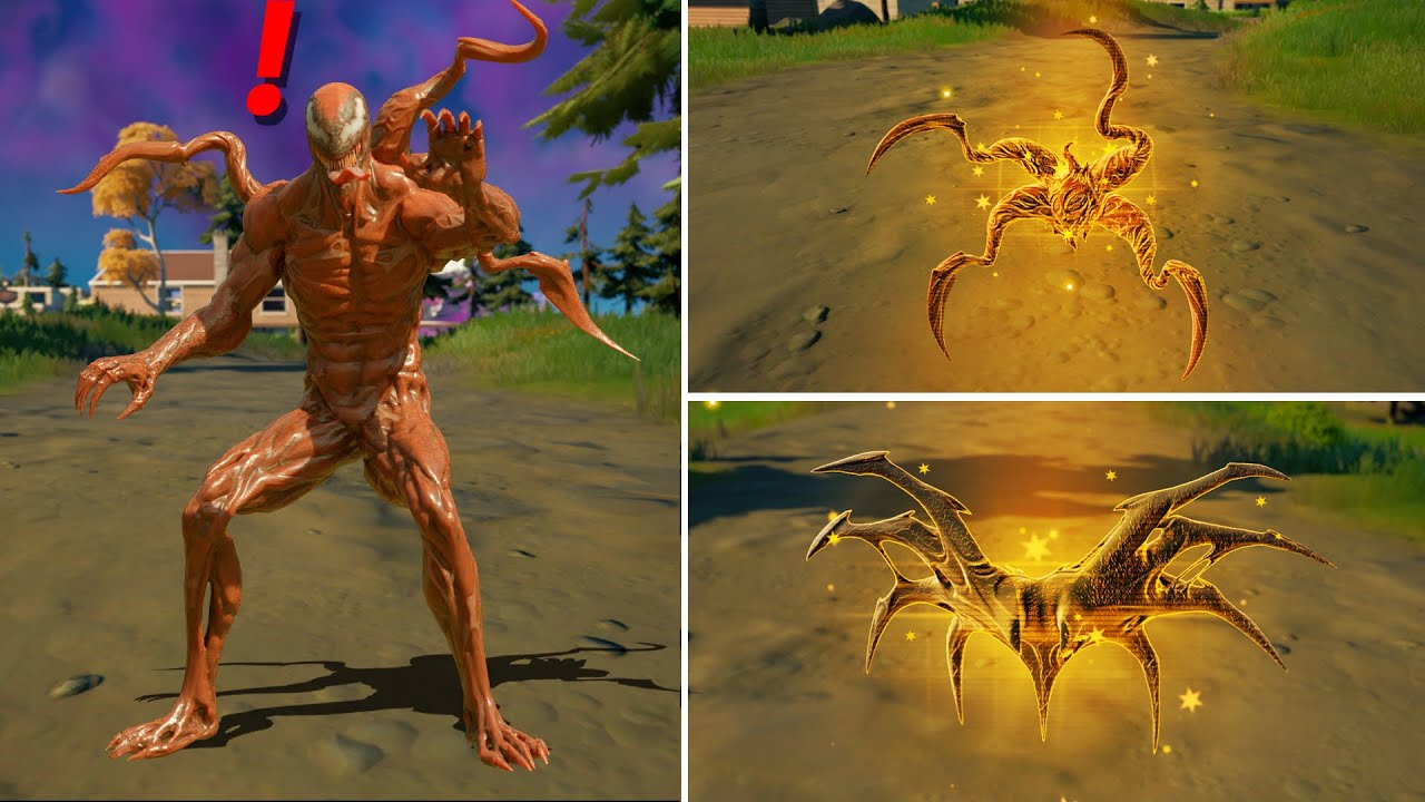Fortnite Season 8 Carnage Mythic Weapons Venom Symbiote Locations Guide (Boss Carnage Venom)