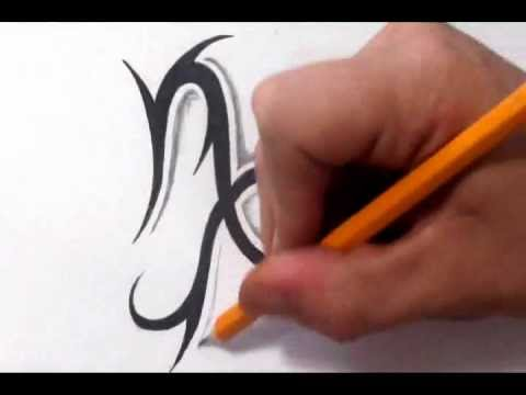 Capricorn Tattoos - How To Draw a Simple Tribal Star Sign