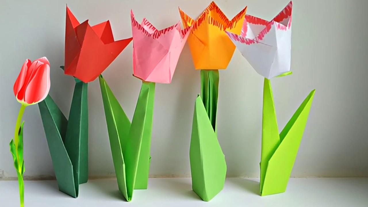 Как сделать самые простые тюльпаны за 5 минут