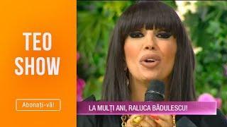 Teo Show(08.10)-Raluca Badulescu, in lacrimi! Florin, sotul Ralucai, surpriza incendiara de ziua ei!