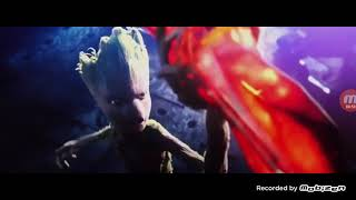 Groot make thor's hammer an entry of thor in 720p infinity war