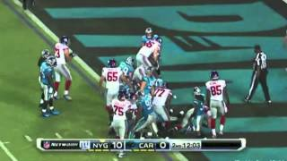 Giants-Panthers 2012 Highlights: The Massacre