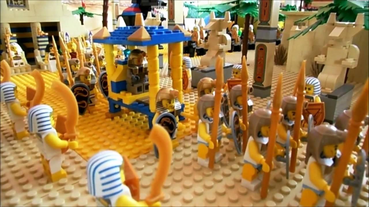 Die Welt von Tutanchamun mit Lego Steinen erbaut  YouTube