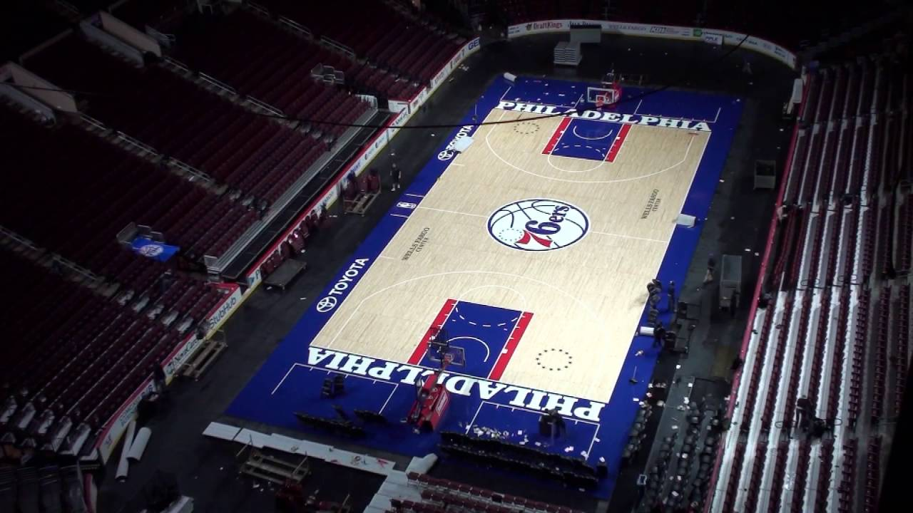half ice half court wells fargo center youtube