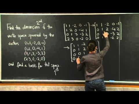 Basis and Dimension  MIT 1806SC Linear Algebra, Fall 2011