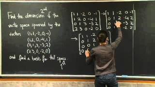 Basis and Dimension MIT 18.06SC Linear Algebra, Fall 2011