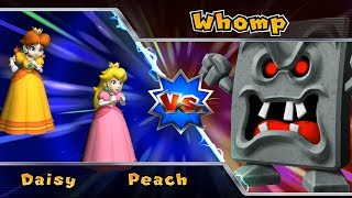 Mario Party 9 - Boss Rush - Peach vs Daisy, Who will winner? | Cartoons Mee