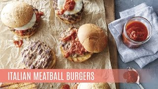 Italian Meatball Burgers with the Nonstick Double Burner Grill  Pampered Chef