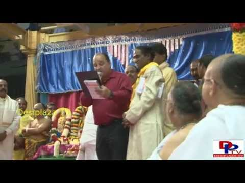 Frisco city Mayor Meher Maso, reading the Proclamation at  TTD Balaji Kalyanotsavam