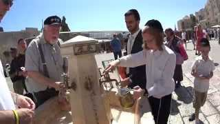 Judaism Handwashing at the Western Wall (Wailing Wall) in Jerusalem