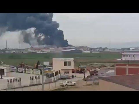 Zjarr në një fabrikë në Ferizaj