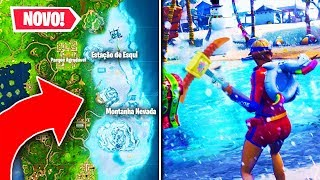 I found a new secret location with snow at Fortnite..!