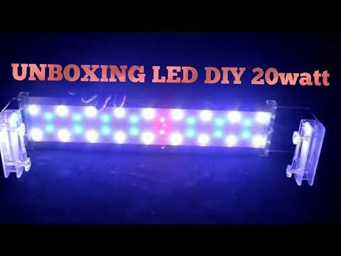 Unboxing Led Diy Aquascape 20watt Made In China Youtube