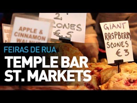 Feiras de Rua em Dublin - Temple Bar Street Markets - E-Dublin TV