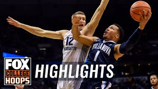 Villanova vs Marquette | Highlights | FOX COLLEGE HOOPS