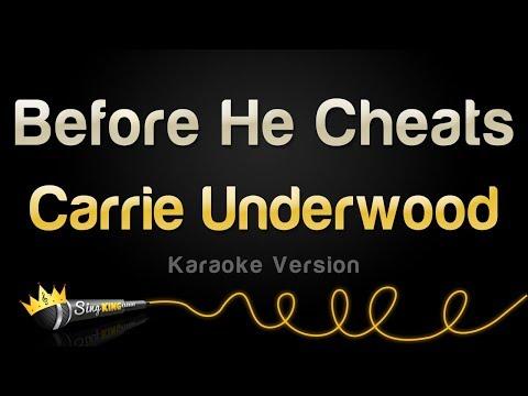 Carrie Underwood - Before He Cheats (Karaoke Version)