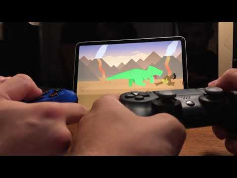 Apple Arcade Local Multiplayer Games Using Two DualShock 4 Controllers!