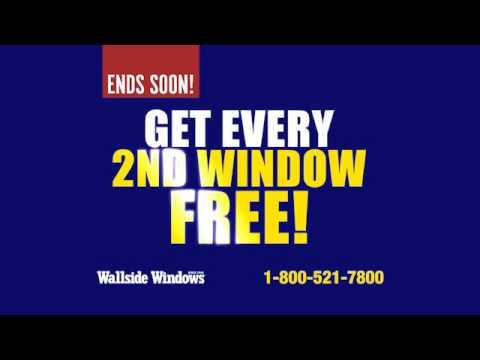 Every 2nd window free at wallside windows youtube for Wallside windows