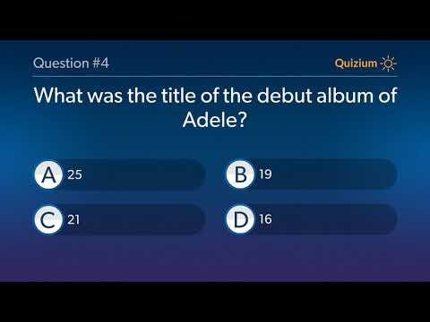 Adele Quiz   Which Of These Is Not The Genre Of Adele? And More Questions