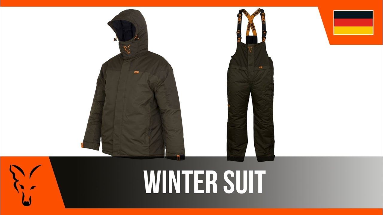 Fox Carp Winter Suit Bekleidung Anzug
