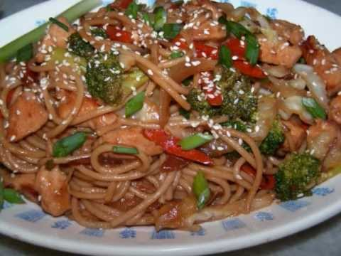 Chicken lo mein recipe homemade chinese food youtube forumfinder Gallery