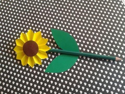 Girassol-Lápis decorado