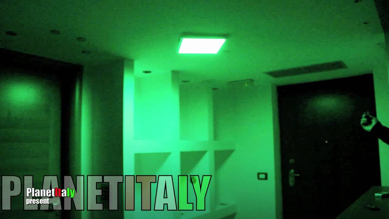 Pannello led rgb 30x30cm cromoterapia bagno doccia led light rgb 18w - YouTube