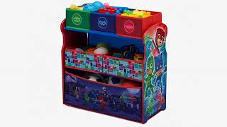 MUST SEE Kids Furniture Review! Delta Children Multi-Color Deluxe Toy Organizer with Storage Bins