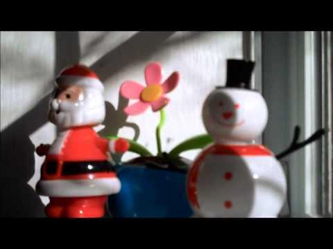 Solar Powered Dancing Santa Claus Snowman Flower